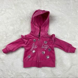 Baby Girl Juicy Couture Long Sleeve Hooded Sweater